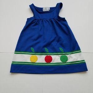 Florence Eiseman apple blue tank dress 4T